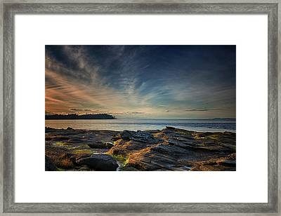 Spring Evening At Madrona Framed Print by Randy Hall