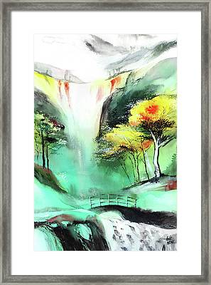 Framed Print featuring the painting Spring Fall by Anil Nene