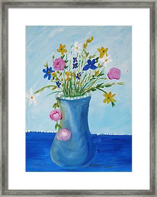 Spring Fantasy One Framed Print by Barbara McDevitt