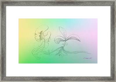 Framed Print featuring the mixed media Spring Feelings 1 by Denise Fulmer