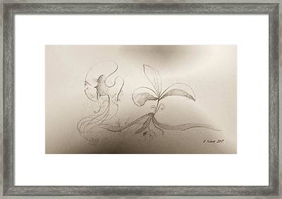 Framed Print featuring the mixed media Spring Feelings 2 by Denise Fulmer