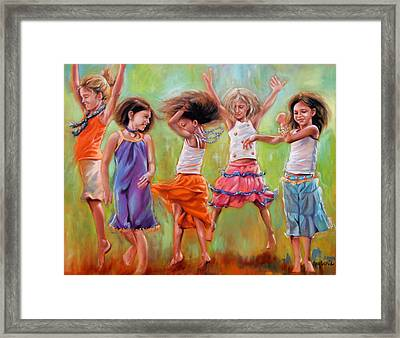 Spring Fever Framed Print by Mary Leslie