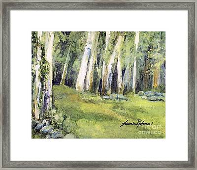 Framed Print featuring the painting Spring Field by Laurie Rohner