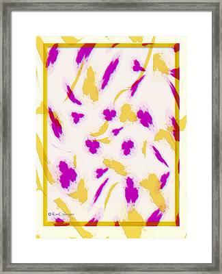 Framed Print featuring the digital art Spring Fling by Kae Cheatham