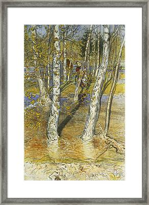 Spring Flood Framed Print by Carl Larsson