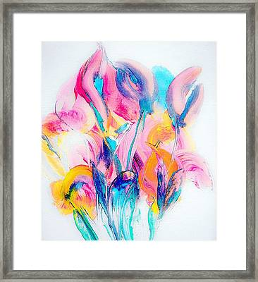 Spring Floral Abstract Framed Print by Lisa Kaiser