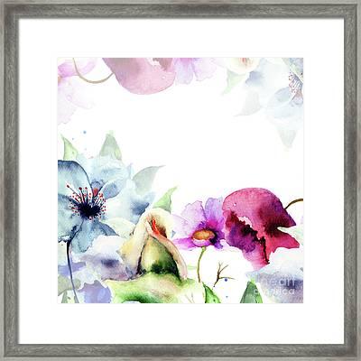 Spring Floral Background Framed Print