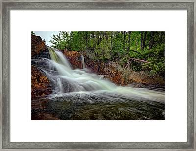 Spring Flow At Smalls Falls Framed Print