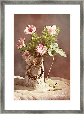 Spring Flower Arrangement  Framed Print by Amanda Elwell