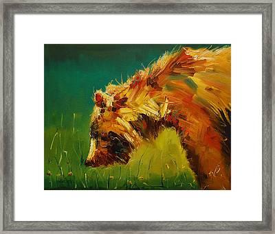 Spring Flower Bear Framed Print