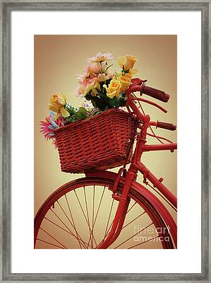 Spring Flower Bike Framed Print by Carlos Caetano