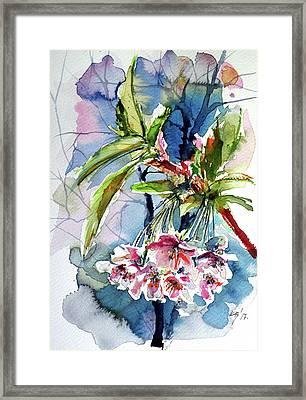 Framed Print featuring the painting Spring Flower by Kovacs Anna Brigitta