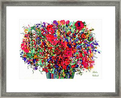 Spring Flowers Abstract Framed Print