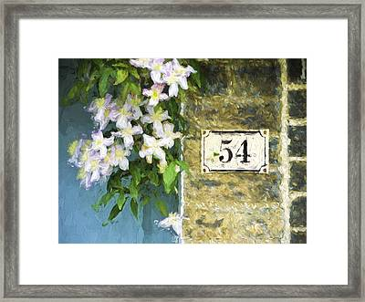 Spring Flowers At No. 54 Cambridge England Framed Print by Carol Leigh