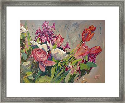 Spring Flowers Bouquet Framed Print