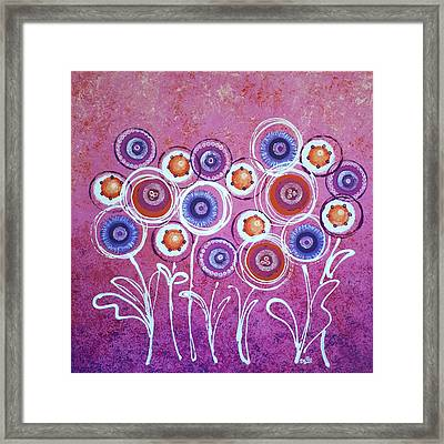 Pink New Flowers Framed Print