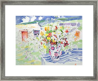 Spring Flowers On The Island Framed Print by Elizabeth Jane Lloyd