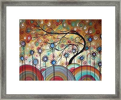 Spring Flowers Original Painting Madart Framed Print by Megan Duncanson