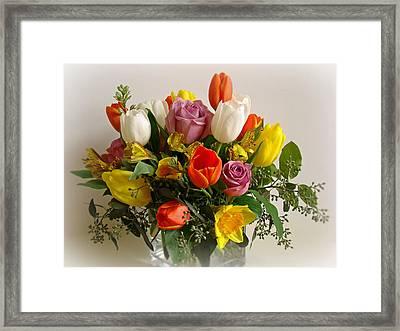 Spring Flowers Framed Print by Sandy Keeton