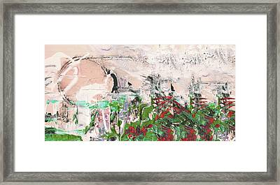 Spring Fog - Abstract Mixed Media Landscape Painting Framed Print by Modern Art Prints