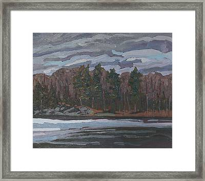 Spring Forest Shore Framed Print by Phil Chadwick