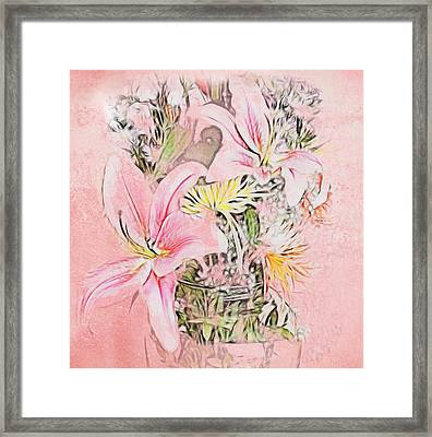 Spring Fowers With Vase Framed Print
