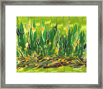 Framed Print featuring the painting Spring Garden by Holly Carmichael