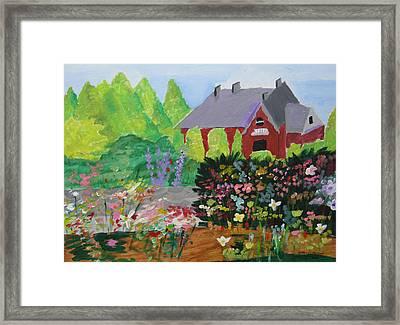 Spring Garden Framed Print by Jeff Caturano