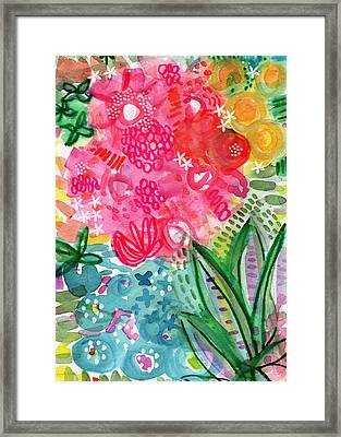 Spring Garden- Watercolor Art Framed Print