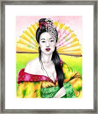 Spring Geisha Framed Print by Scarlett Royal