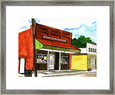 Spring General Store Sharpsburgh Iowa Framed Print by Kevin Callahan