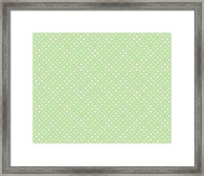 Spring Green Floral Framed Print