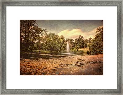 Spring Grove Water Feature Framed Print