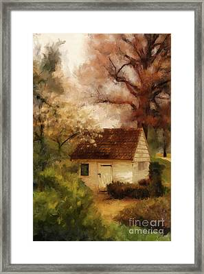 Framed Print featuring the digital art Spring House In The Spring by Lois Bryan