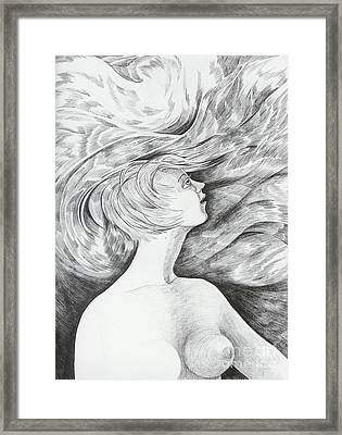Framed Print featuring the drawing Spring I by Anna  Duyunova