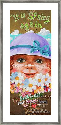 Framed Print featuring the painting Spring by Igor Postash