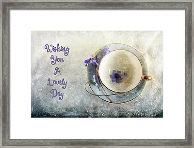 Spring In A Cup Framed Print by Randi Grace Nilsberg