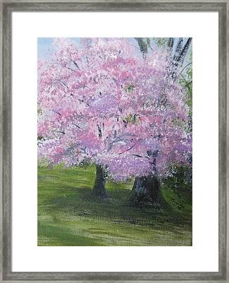Framed Print featuring the painting Spring In Bloom by Trilby Cole