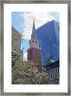 Spring In Boston Old South Meeting House Framed Print