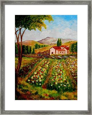 Spring In France Framed Print