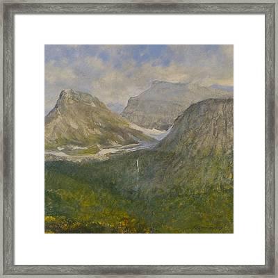 Spring In Glacier National Park Framed Print by Gary Kaemmer