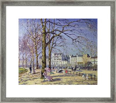 Spring In Hyde Park Framed Print by Alice Taite Fanner