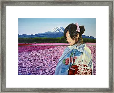 Spring In Japan Framed Print