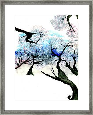 Spring In Japan Framed Print by Tiphanie Erickson