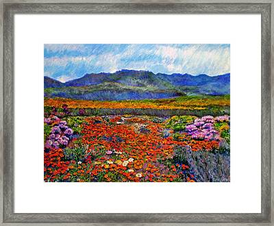 Spring In Namaqualand Framed Print by Michael Durst