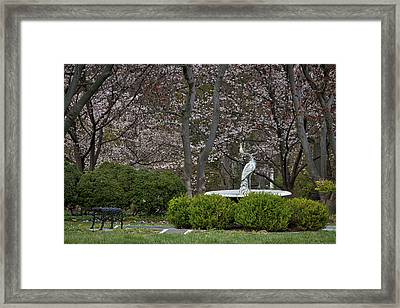 Spring In Oak Hill Cemetery #2 Framed Print by Stuart Litoff