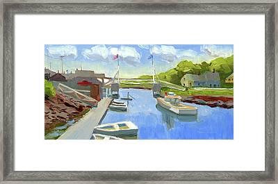 Spring In Perkins Cove Framed Print