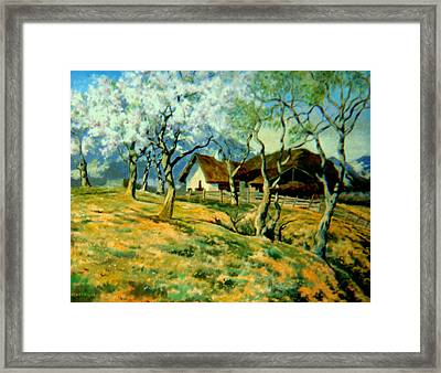 Framed Print featuring the painting Spring In Poland by Henryk Gorecki