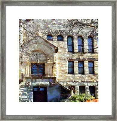 Framed Print featuring the painting Spring In Scranton by Janine Riley