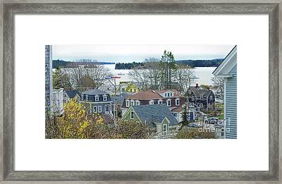 Spring In Maine, Stonington Framed Print by Christopher Mace